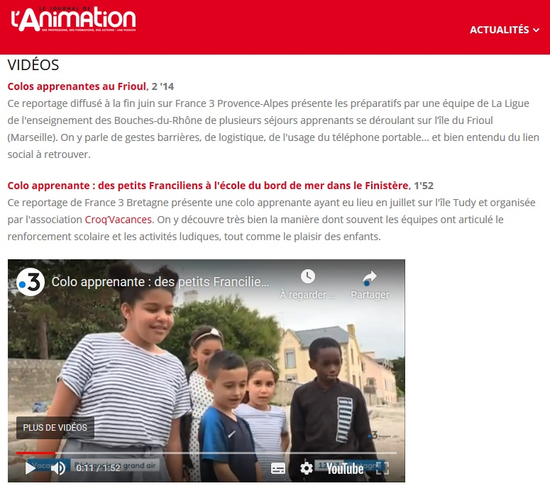 Vacances Apprenantes - Le Journal de l'Animation